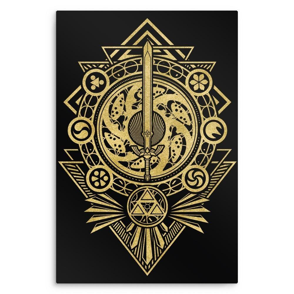 Timeless Hero Metal Print Zelda tattoo, Zelda drawing