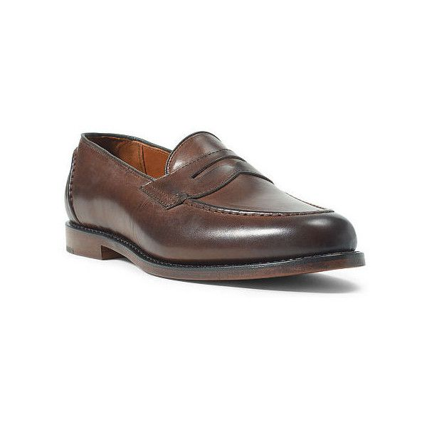 Polo Ralph Lauren Singleton Calf Penny Loafer ($475) ❤ liked on Polyvore  featuring men's fashion, men's shoes, men's loafers, mens slipon shoes, ...