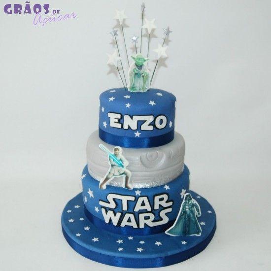 Star Wars - Grãos de Açúcar - Bolos decorados - Cake Design