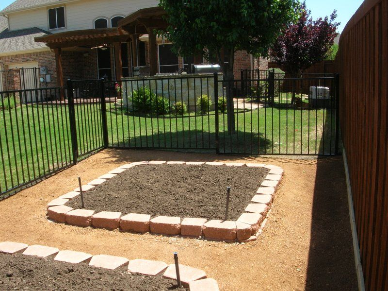 Ideas for spring vegetable garden.  Fence keeps pets out.  Designed and installed by Green Meadows Landscaping.