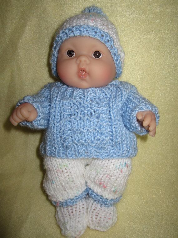 Knitted Doll Clothes For 8 Inch Chubby Berenguer Baby Doll Winter