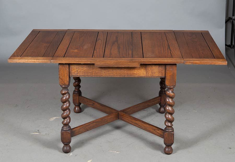 Antique Oak English Pub Table Vintage Coffee Table