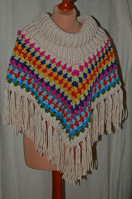 Ravelry Project Gallery For Cowl Neck Poncho Pattern By Simone