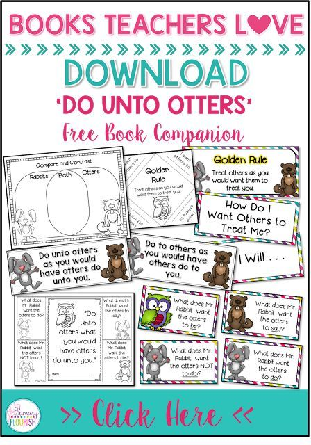 Teach The Golden Rule With Otters Monday Lesson Planning