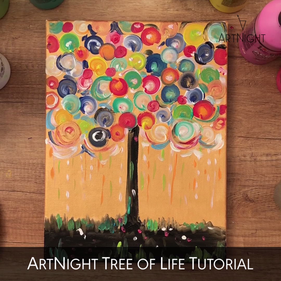 Video: painting the tree with acrylic#acrylic #painting #tree #video