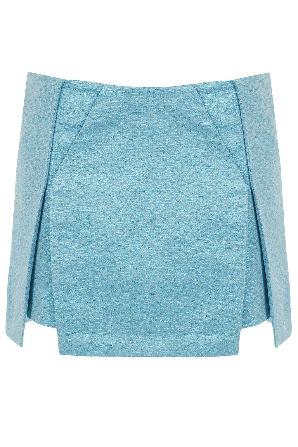 Baby blue metallic origami skirt from Topshop