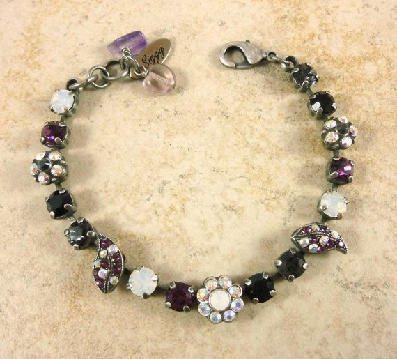 New 6mm Swarovski crystal bracelet ornate design by SiggyJewelry  Mariana and Sabika inspired