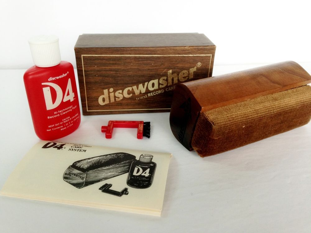 Vintage Discwasher D4 Vinyl Record Care System Bottle