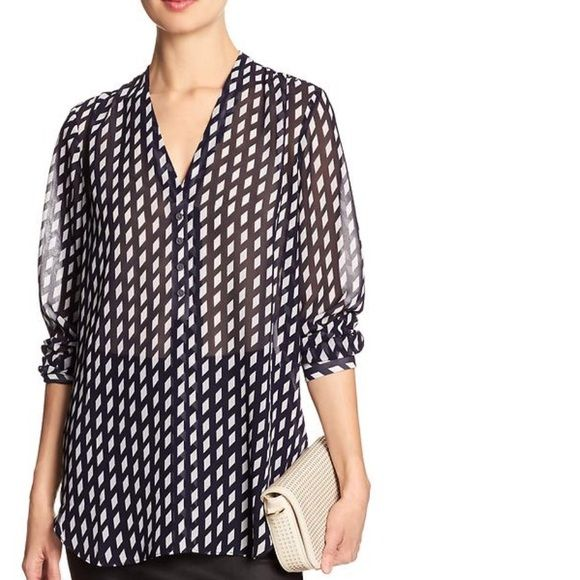 Banana Republic Blouse New without tags. Sheer, gorgeous peachy nude. Banana Republic Tops Blouses