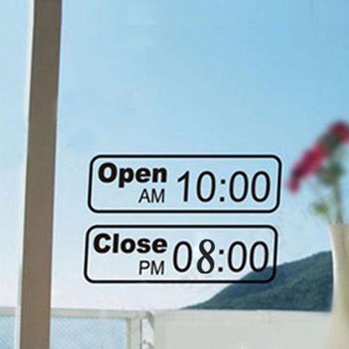 Logo Design Project Decal Opening Hours Custom Custom Window Stickers Car Shop