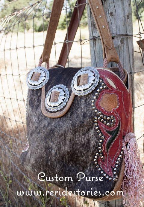 Custom Handmade Cowhide Purse Made With Repurposed Cowboy