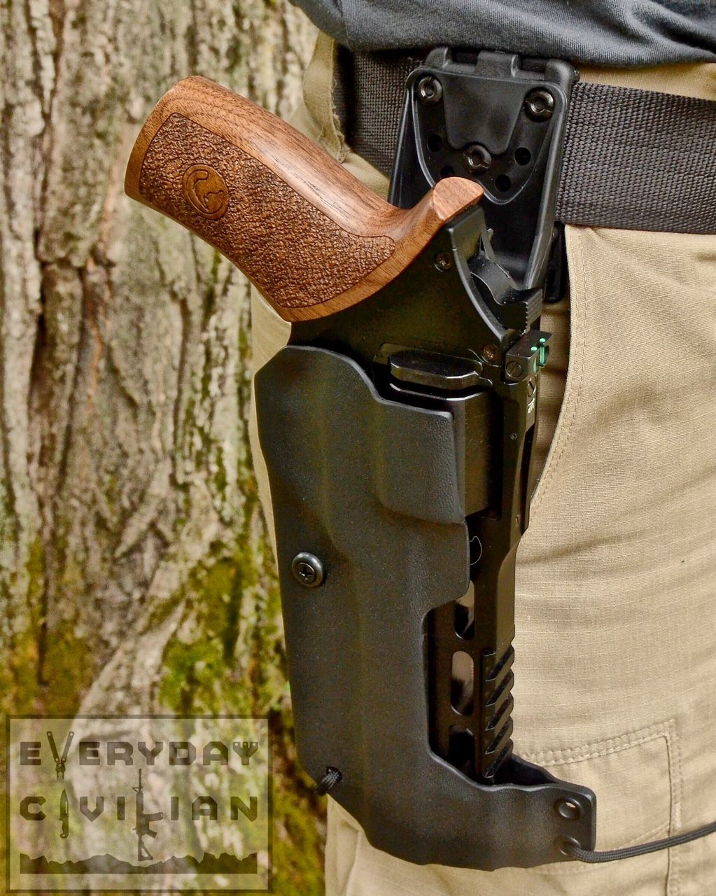 Leather Concealed Gun Holster Chiappa Power and Competitive Revolver