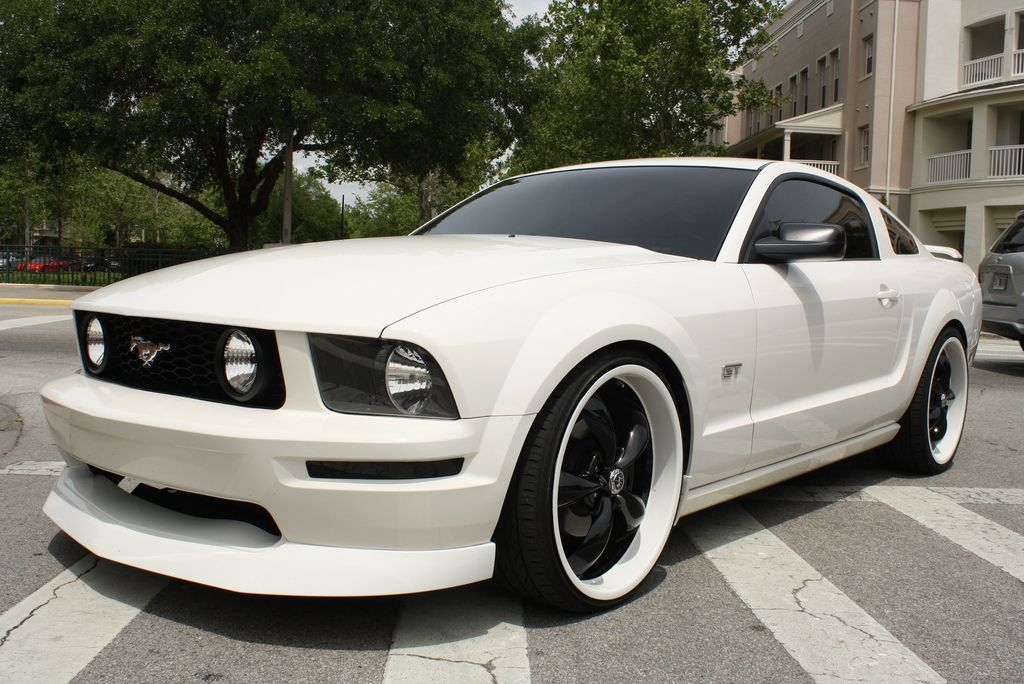 White Mustang Gt Flickr Photo Sharing