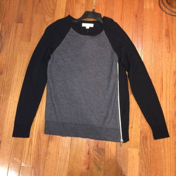 Michael Kors sweater Brand new! Black and grey sweater with side ...