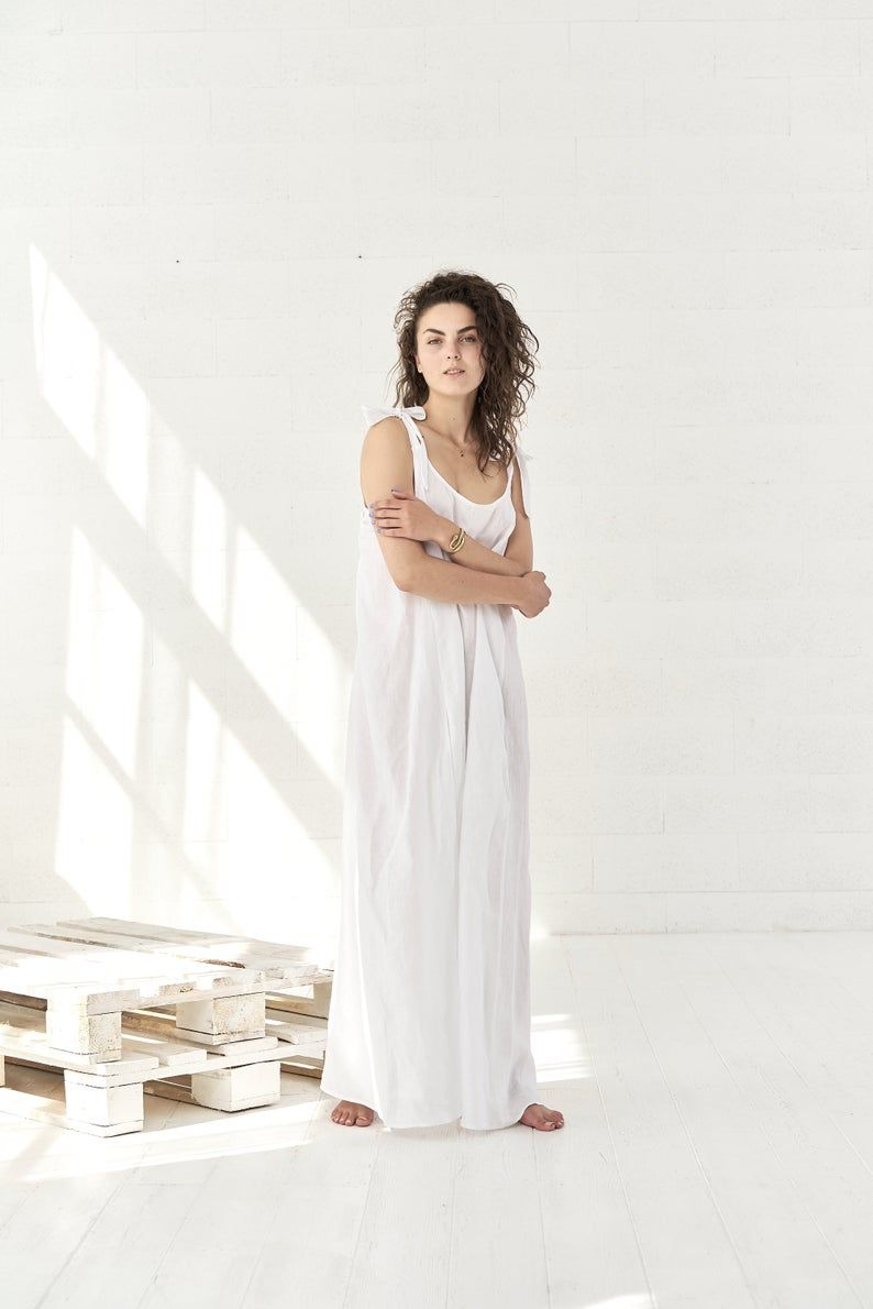 White Linen Maxi Dress Boho Wedding Dress Linen Clothes Etsy Linen Maxi Dress White Linen Maxi Dress Linen Clothes [ 1190 x 794 Pixel ]