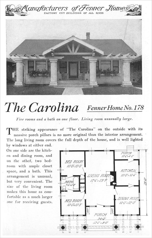 Carolina 1921 READY BUILT HOUSE COMPANY BY FENNER