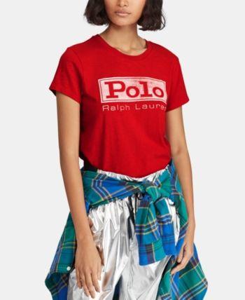 e5fbaa523 Polo Ralph Lauren Logo Graphic Cotton T-Shirt - RL Red XL