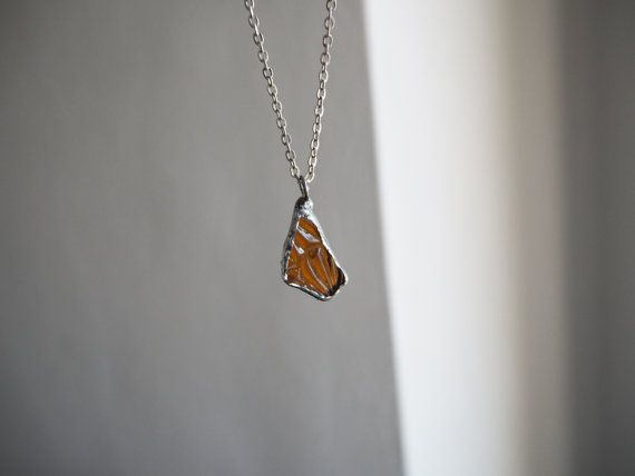 Amber Sea Glass Pendant. Genuine English Sea by TheGlassHerbarium