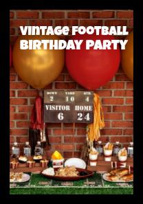 Vintage Football Birthday Party Ideas