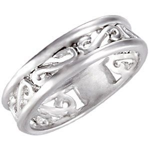 5.75mm Sterling Silver Scroll Design Fashion « Dress Adds Everyday