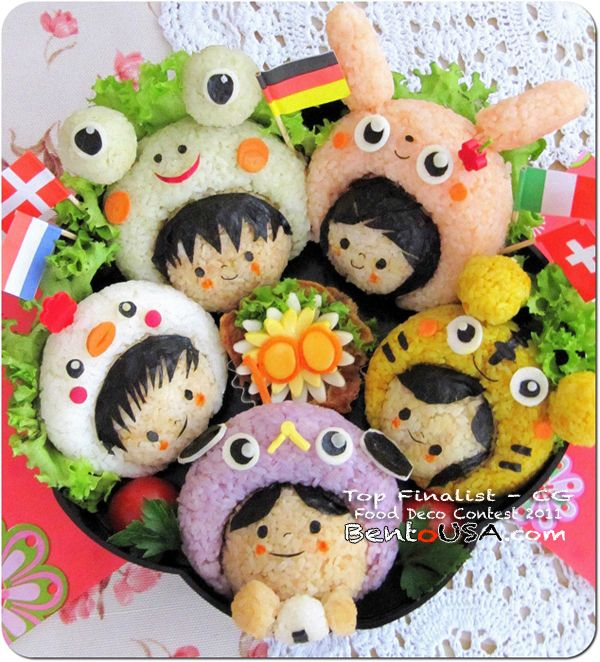 Bento #bento lunch. This is just too cute for food.  I would love to make this and show it off.. (^_^)