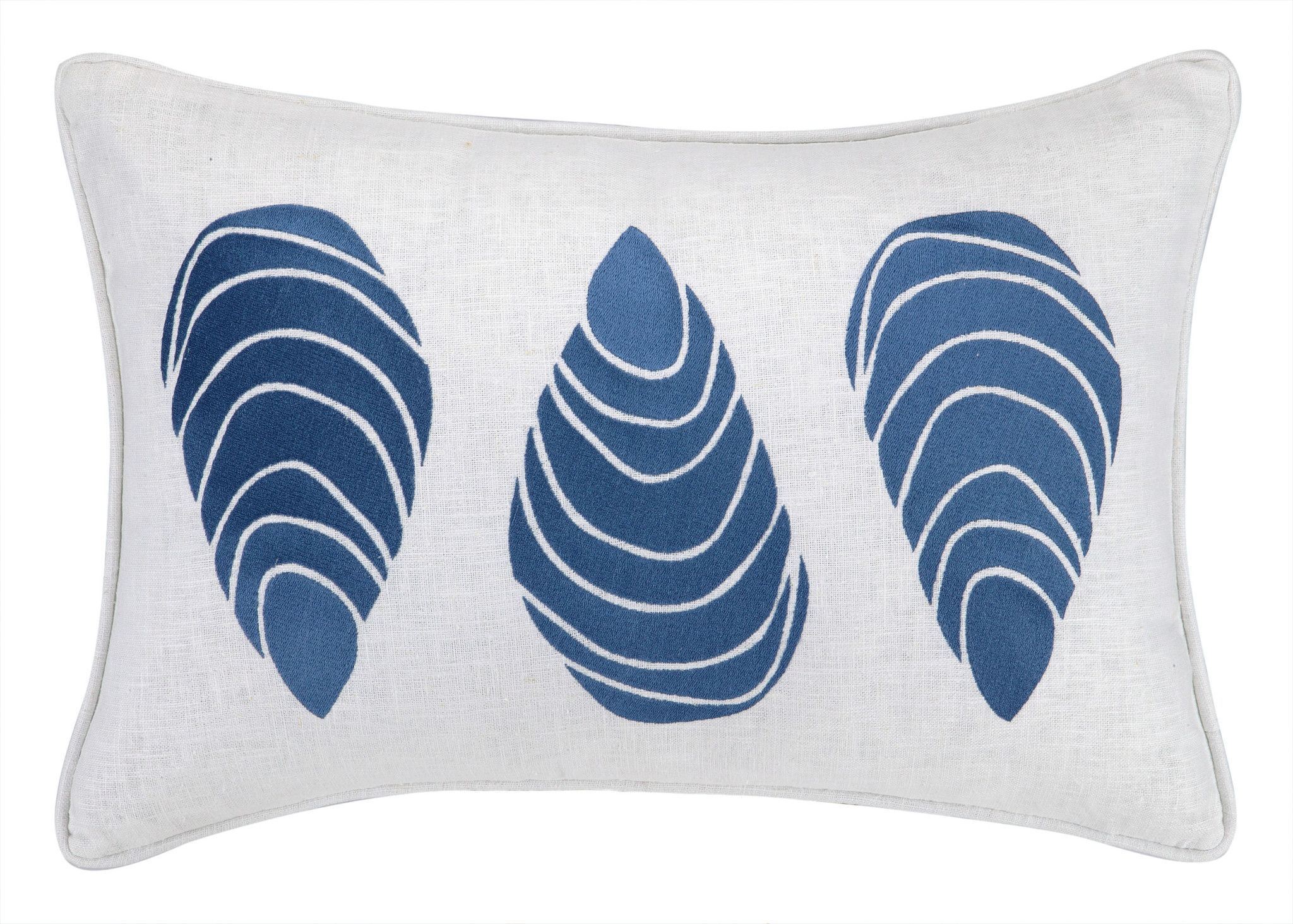 Large Mussels Navy Pillow