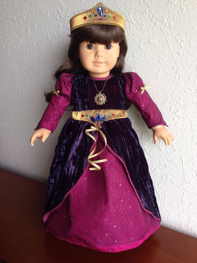 Authentic american girl doll medieval princess dress with ...
