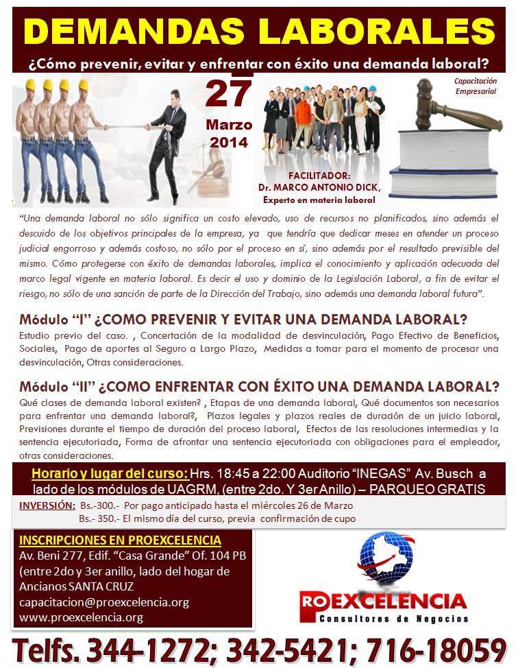 PROEXCELENCIA - ¿Cómo prevenir, evitar y enfrentar demandas laborales?