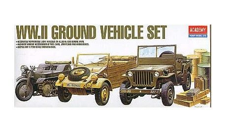 academy 1310 maquette militaire military model kit kubelwagen kettenkrad jeep willys. Black Bedroom Furniture Sets. Home Design Ideas