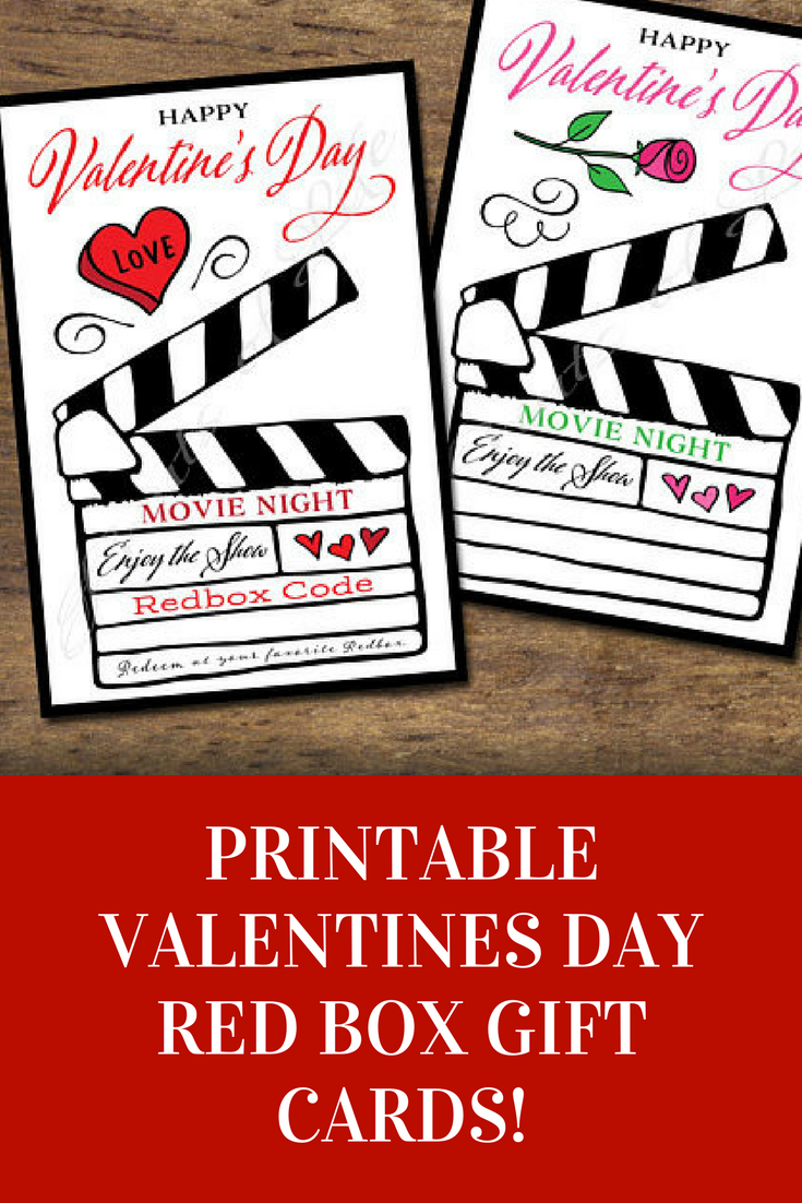 Cute Downloadable Valentines Day Redbox Gift Card Great Idea For
