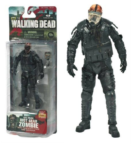 The Walking Dead TV Series 4 Gas Mask Riot Gear Zombie AMC Figure @ niftywarehouse.com #NiftyWarehouse #WalkingDead #Zombie #Zombies #TV