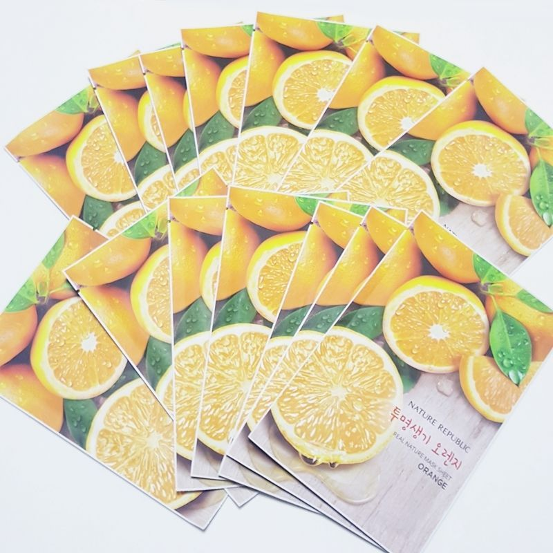 Nature Republic Real Natural Facial Masks Orange 23ml 3/7/14/30 Sheets Lot #NatureRepublic