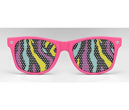 The Wildlife 80's Zebra Party Sunglasses by Eyepster available on: http://www.simplecastle.com/product-details.asp?id=323