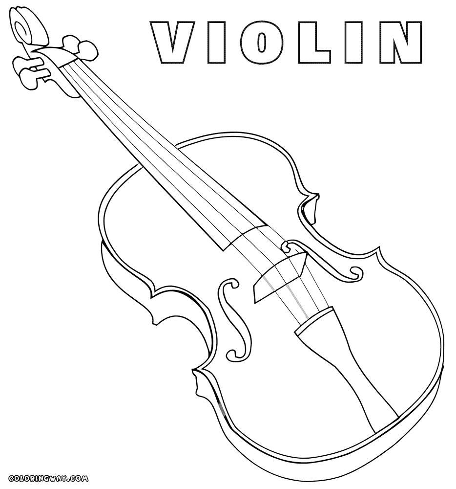 10 Coloring Page Violin Violin Coloring Pages Hello Kitty Colouring Pages