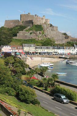 5d2cf0d4b19d 13th century Mont Orgueil Castle, Gorey, Jersey, Chanel Islands, UK Saint  Helier