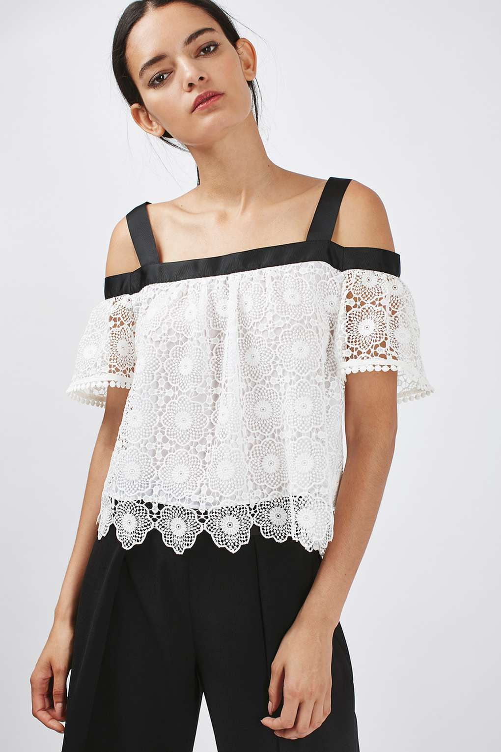 1682ca6db PETITE Lace Cold Shoulder Top | Petite Style | Lace cold shoulder ...