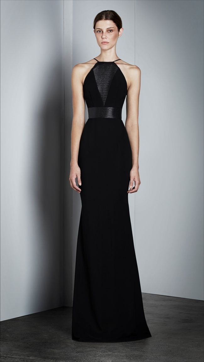 2ad2f4ca220 Alex Perry - Ekaterina – Halter Gown in Black Black