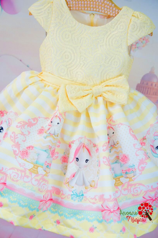 c37a8c2e22 Vestido Infantil de Festa Petit Cherie Unicórnio Vestido Bebê Festa