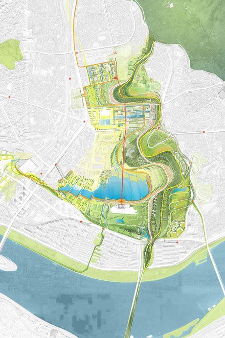 Yongsan National Urban Park Master Plan Urban Design Graphics Urban Park Urban Design Plan