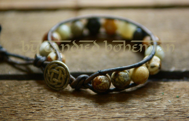 INNER STRENGTH u PROTECTION Mens Bracelet Yoga Jewelry Tibetan