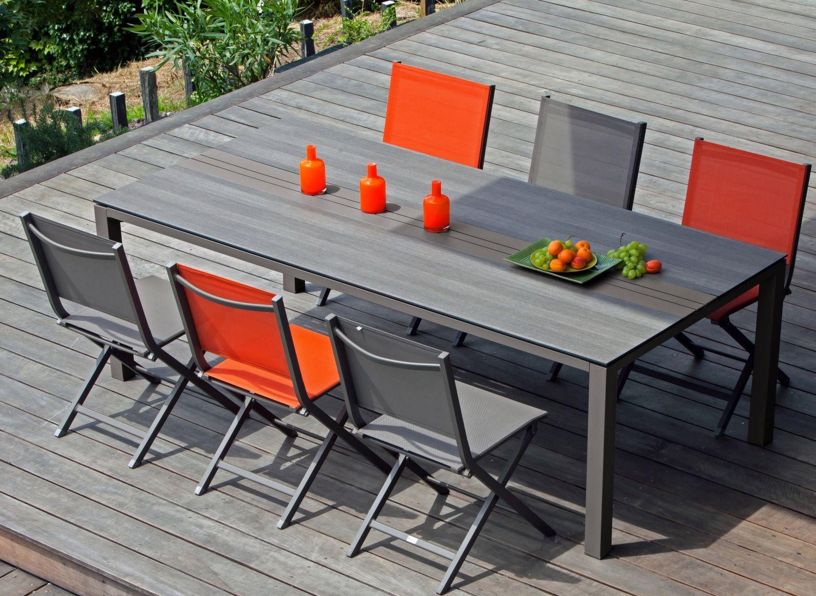 Table Galléo 210 cm, plateau Trespa®   Mobilier de jardin ...