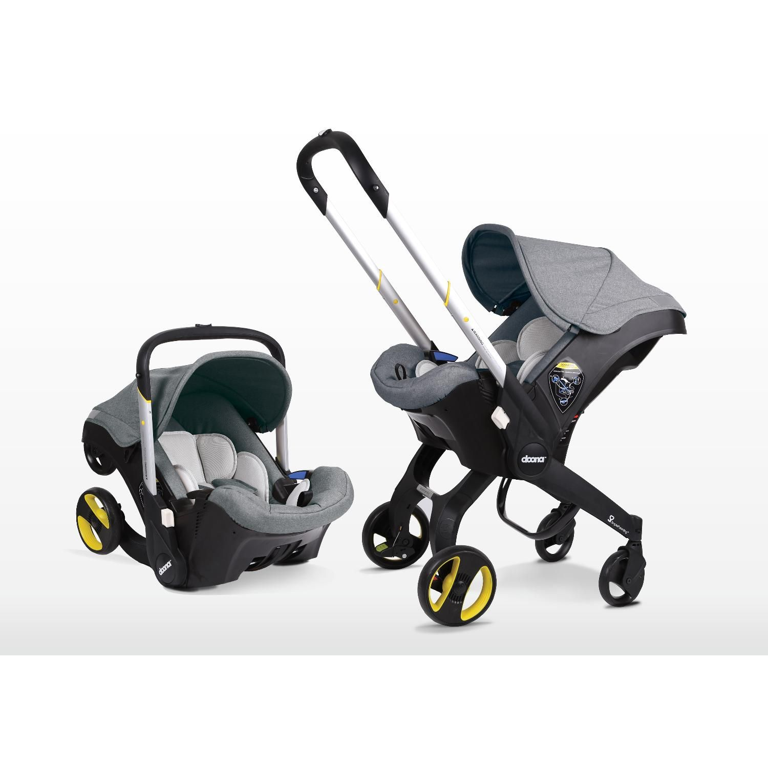 Doona Car Seat to Stroller Storm with ISOFIX Base Baby