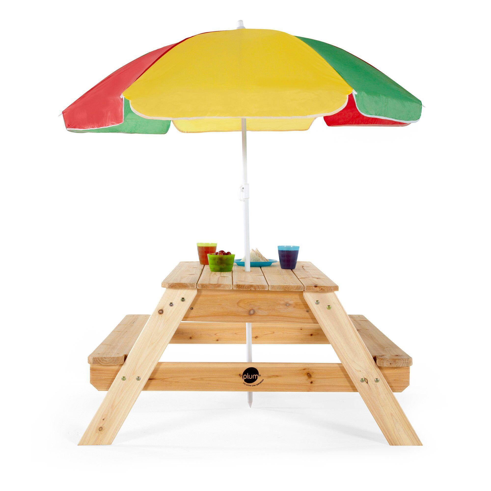 Plum Picnic Table With Umbrella Picnic Table With Umbrella