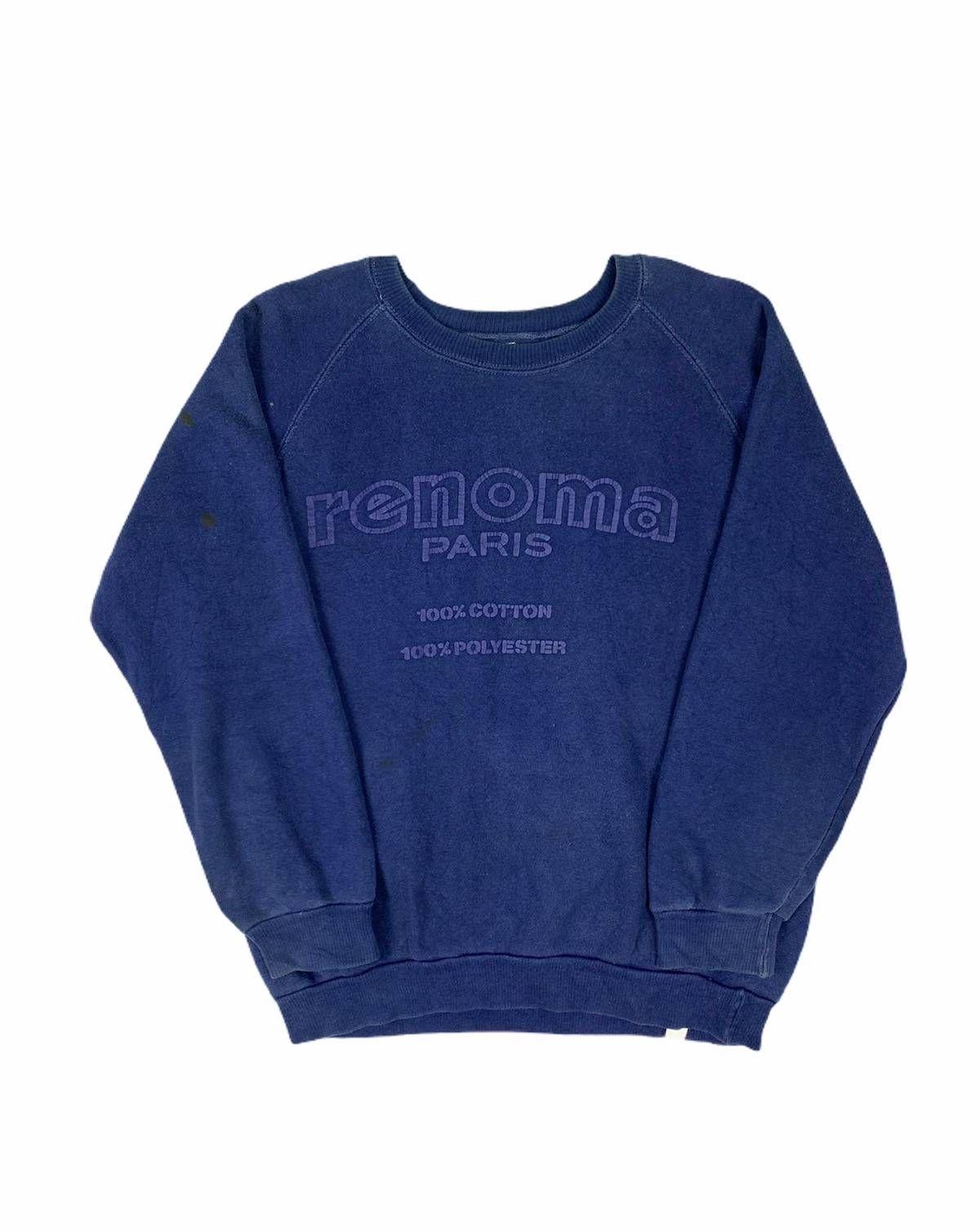 Luxury Paris Renoma Renoma Paris Big Logo Vintage Thick Coton Crewneck Sweatshirt Size M 135 Sweatshirts Crew Neck Sweatshirt Vintage Logo [ 1510 x 1200 Pixel ]