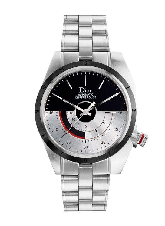 d58fbc6701f 2011 montre Chiffre Rouge Dior T01 en acier 39mm Marcas De Relógios De  Luxo