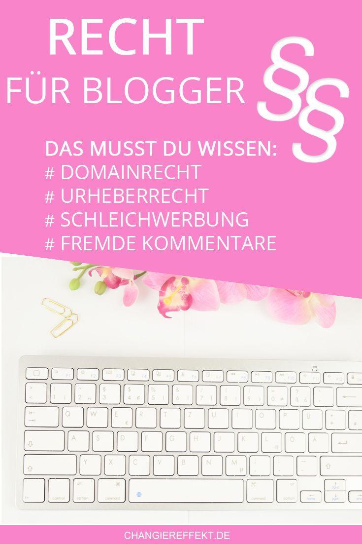 Rechtsgrundlagen beim Bloggen - Überblick zu Domains, Urheberrecht ...
