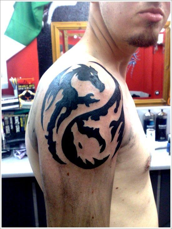 37 Amazing Yin Yang Tattoo Designs  Tatuaje De Dragn -8843