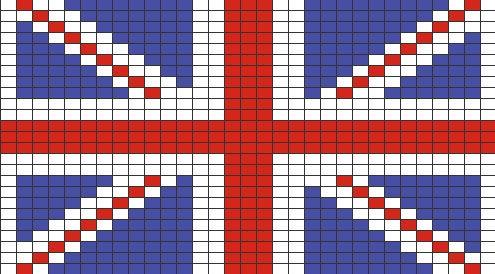 Quadrillage pixel drapeau pinterest - Comment dessiner le drapeau d angleterre ...