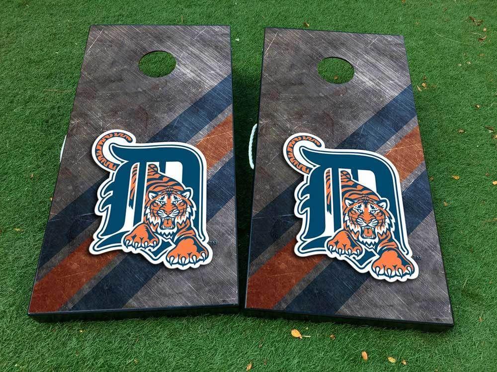 Tigers Football Cornhole board game decal wraps