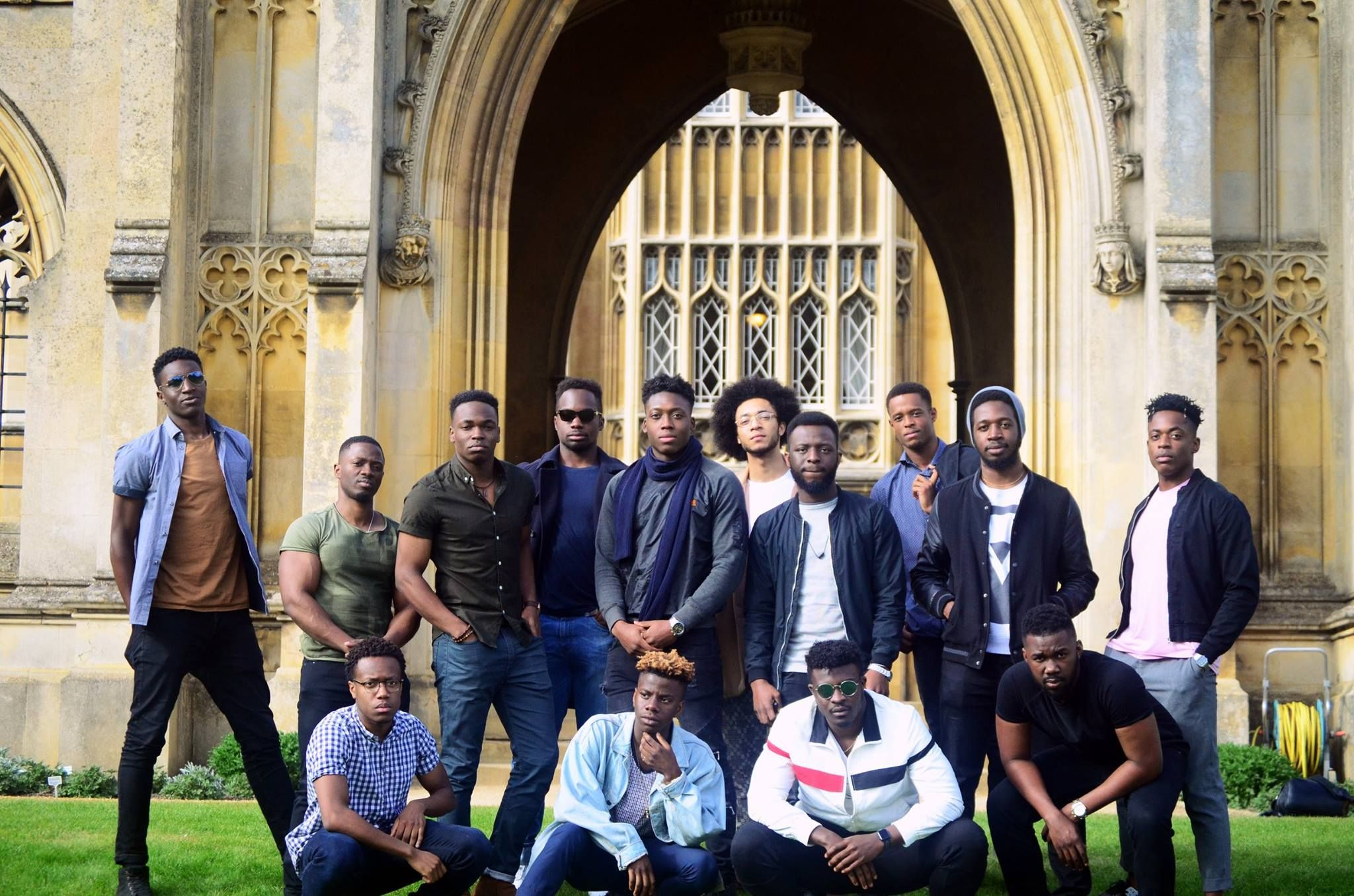 A group of black male Cambridge students used a simple but effective way to encourage more black youths to apply